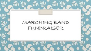 Valley Marching Band Sign Fundraiser